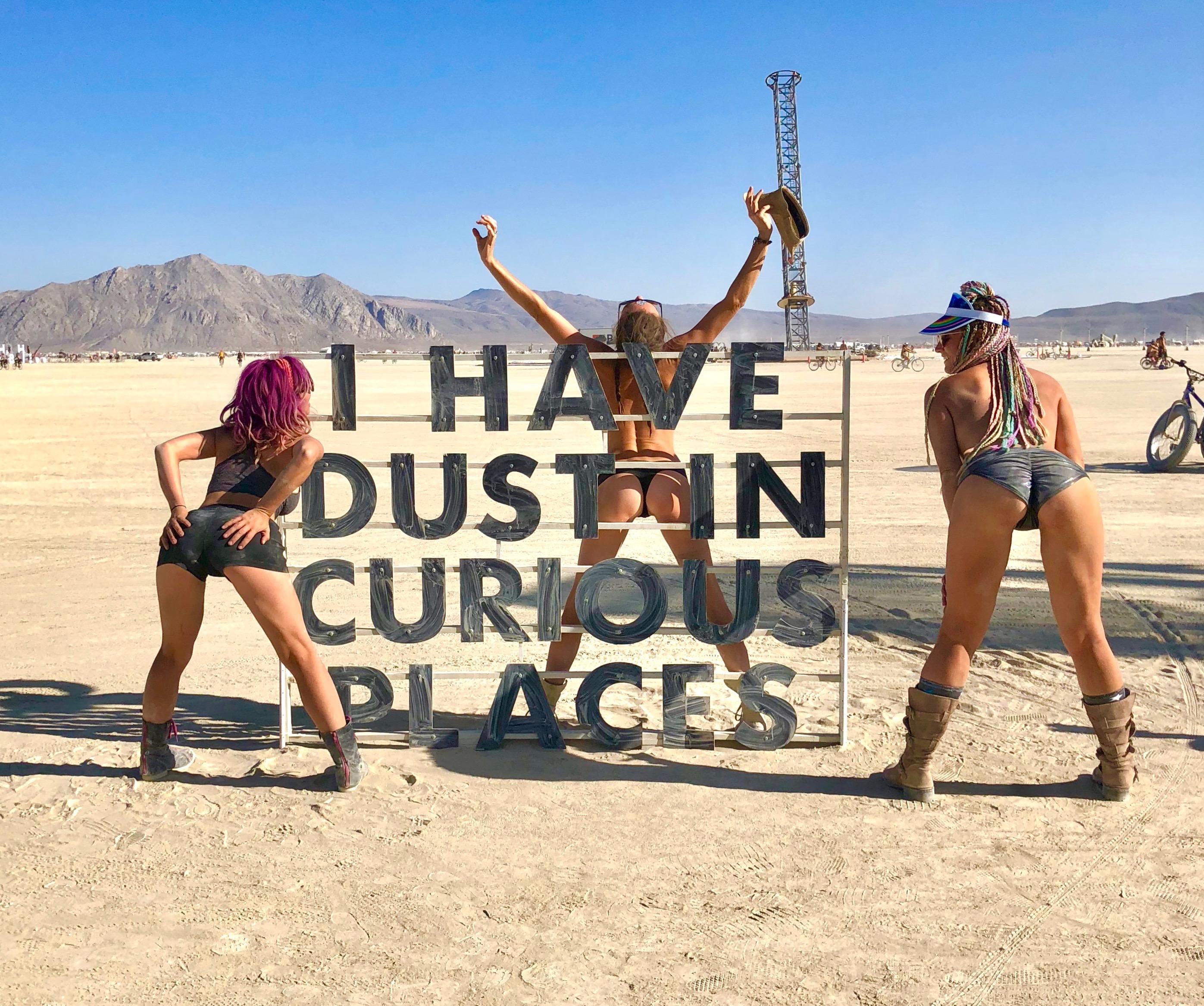 Naked girls in vans What Happens At Burning Man Camper Van Life Solo Female Travel
